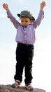 Free Little Boy Balanced On A Rock Royalty Free Stock Photos - 26718728