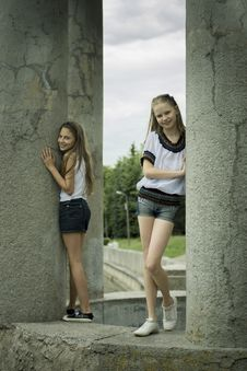 Free Two Teenage Girls Stock Image - 26710711