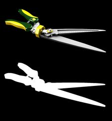Garden Hedge Trimmers Royalty Free Stock Image