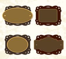 Vintage Coffee And Chocolate Badges Stock Image