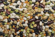 Various Beans Background Stock Image