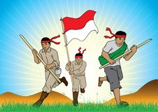 Free Indonesian Soldiers Royalty Free Stock Photo - 26719555