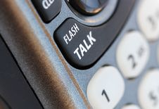 Free Phone Closeup With Talk Button In Selective Focus Royalty Free Stock Photography - 26719667