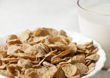Free Breakfast With Corn-flakes Royalty Free Stock Photo - 26719755