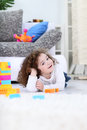 Free Cute Girl With Her Toys Royalty Free Stock Images - 26729309