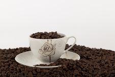Free Coffee Beans In Cup Stock Images - 26722524