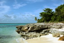 Free Large Stone Saona Island Dominican Republic Stock Photography - 26724552