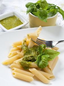 Free Pasta With Pesto Stock Images - 26724794