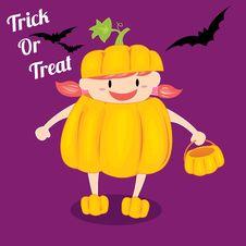 Free Halloween Girl Royalty Free Stock Photo - 26724895