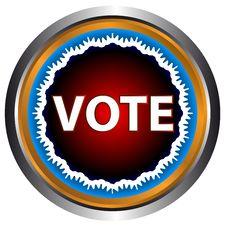 Free Vote Icon Royalty Free Stock Photo - 26727185