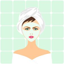 Free Face Mask Spa Woman Royalty Free Stock Images - 26727199