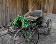Free Old Horse Drawn Buggy. Stock Photo - 26728050