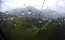 Free Ropeway In The Rain Royalty Free Stock Image - 26728796