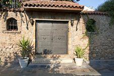 Free Metallic Double Door Stock Image - 26729571