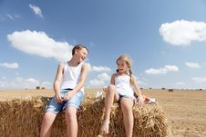 Free Brother Sister Summer Laughs Stock Photos - 26732663