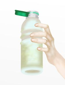 Free Human Hand Holding Bottle Of Water Stock Photo - 26734990
