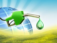 Green Fuel Stock Image