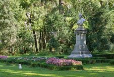 In The Public Garden Of Trieste Royalty Free Stock Photography