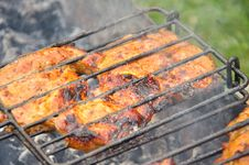 Free Tasty Grill Kebab On A Charcoal Stock Photo - 26737460