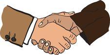 Illustration Of Handshake Stock Images