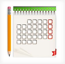 Free Pencil & Calendar Stock Images - 26739114