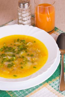 Free Soup In A Bowl Stock Photos - 26739953