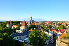 Free Red Roofs And Church Of Old Tallinn Royalty Free Stock Photo - 26739985