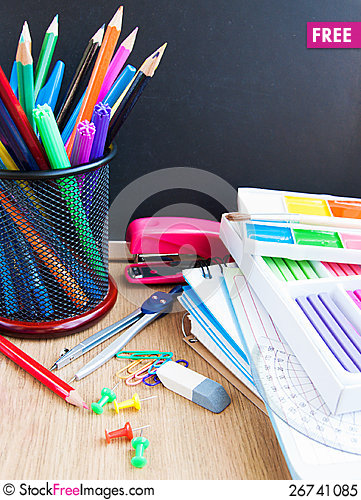 Free School Blackboard Royalty Free Stock Photo - 26741085