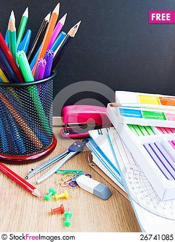 Free School Blackboard Royalty Free Stock Photo - 26741085
