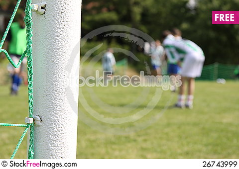 Free Green Football Net, Green Grass Royalty Free Stock Images - 26743999