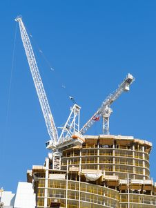 Free Crane On Top Of New Condo Tower Stock Photo - 26746770
