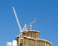 Free Crane On Top Of New Condo Tower Stock Image - 26746771