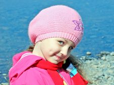 Free Baby Girl By The River Royalty Free Stock Photos - 26746858