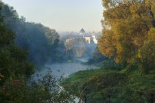 View Of The Monastery From The River, September Royalty Free Stock Photos