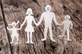 Free Cardboard Figures Of The Family Royalty Free Stock Photography - 26758617