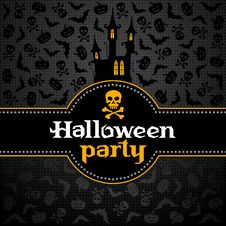 Free Halloween Vector Card Royalty Free Stock Photography - 26751447
