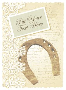 Free Romantic Card With Horseshoe Stock Photos - 26751813