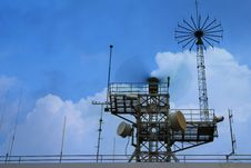 Free Radar Tower In Evening Sky Royalty Free Stock Photography - 26754457