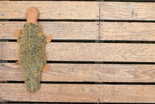 Free Old Wooden Background With Doll Royalty Free Stock Photography - 26754997