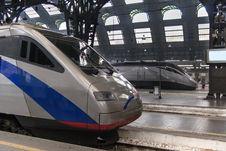 Free Train In Milan Station Stock Image - 26756741