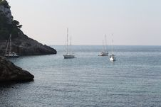 Free Seascape With Yacht Stock Photo - 26757380
