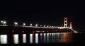 Free Mackinac Bridge At Night Stock Photos - 26762583