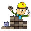 Free Bricklayer Royalty Free Stock Photography - 26762917