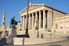 Free Austrian Parliament In Vienna, Austria Royalty Free Stock Image - 26760186