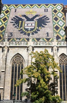 Free Eagle Tiles Roof Of Stephansdom In Vienna, Austria Royalty Free Stock Photos - 26760218