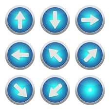 Blue Icons With Arrows Royalty Free Stock Photo