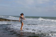 Free Woman In The Sea Wave Stock Photos - 26761673