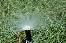 Free Working Sprinkler Stock Photography - 26762032
