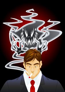 Demon Of The Smoke Royalty Free Stock Image