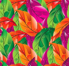 Free Seamless Colored Leaves Background Stock Image - 26766881